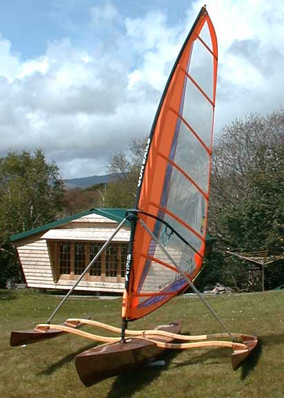 Completely Different Approach to a Standing Board Trimaran | Small